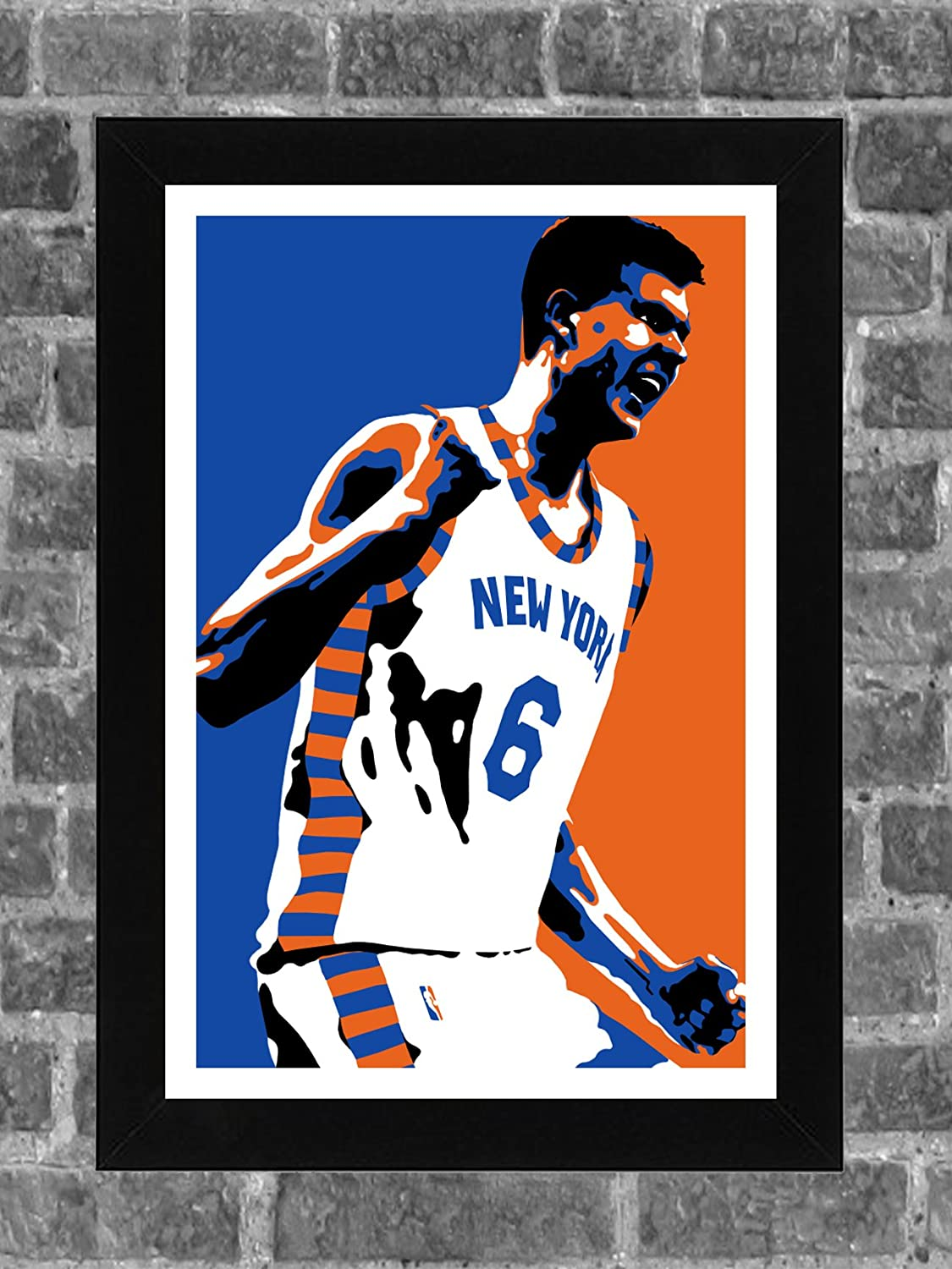 New York Knicks Kristap Porzingis Portrait Sports Print Art 11x17 FanFourLife