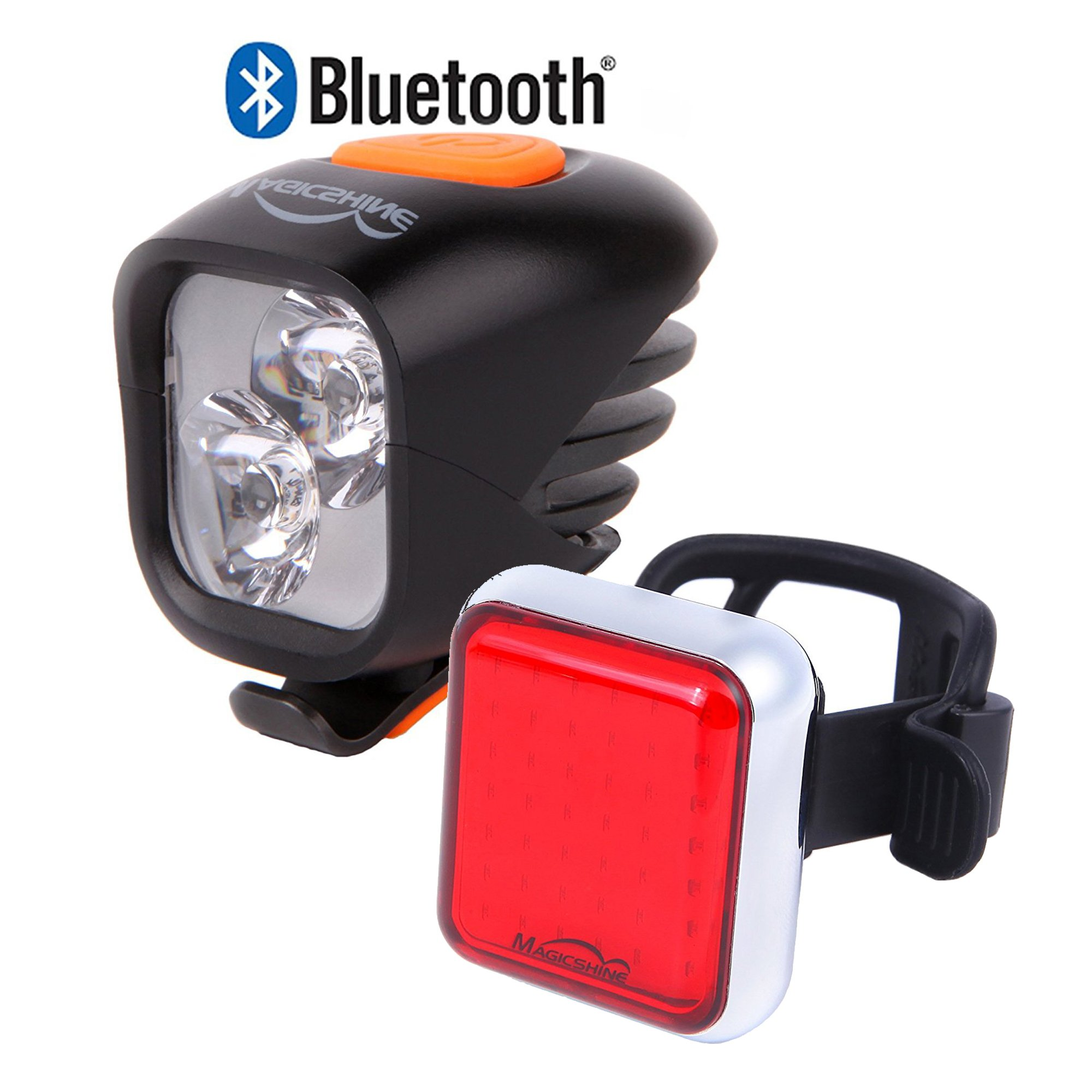 Magicshine Road bike light combo, commuter bike headlight and taillight set, warning light, safety light for urban and city cyclists, portable and convenient (Road Set) by Magicshine (Image #1)