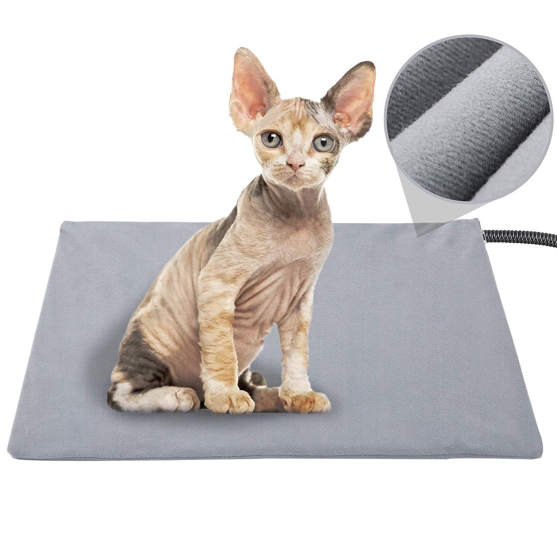 lesotc Pet Heat pad Waterproof Pet Heating pad for Small Medium Dogs Cat Heat Pad 40 /×45 CM
