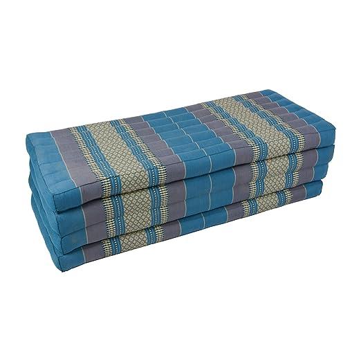 190 x 110 x 8 cm Azul Beautissu Hecho a Mano tailand/és coj/ín Almohada Suelo Alfombrilla de Tailandia Tela