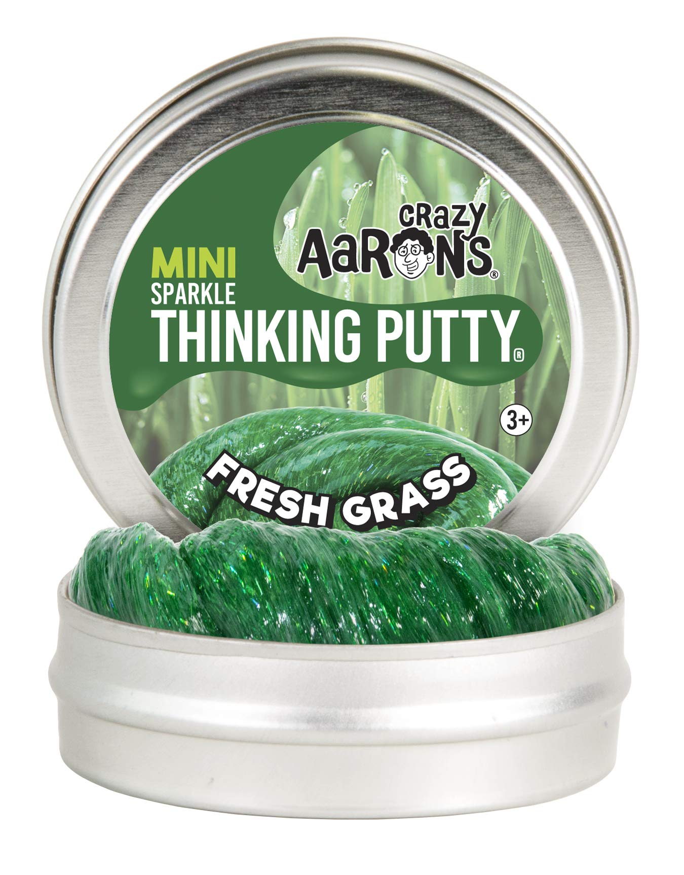 Crazy Aaron's Thinking Putty - Easter Trio 12 Pack - Spring Showers, Fresh Grass and Cheep Cheep Sparkle 2'' Mini Tins - Perfect as Easter Basket Stuffer! by Crazy Aaron's (Image #3)