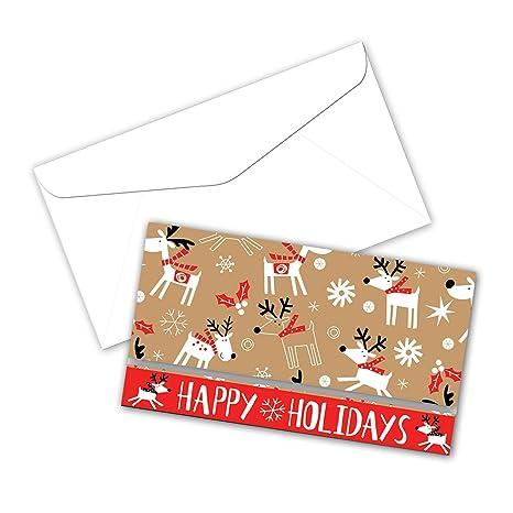 jillson roberts 24 count christmas money holders available in 8 designs reindeer hop