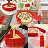 VPDeal DIY Silicone Cake Baking Cake Mold Magic Nonstick Tray Baking Mould Set of 4