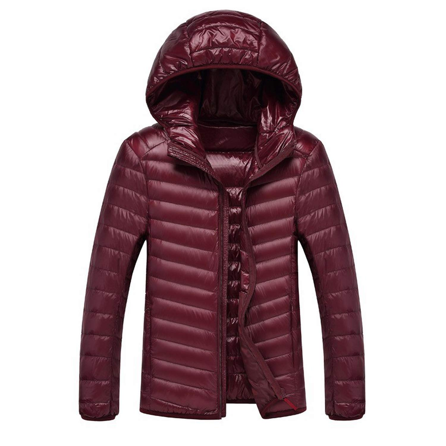 I'm good at you 2018 Men Hooded Ultralight White Duck Down Jacket Warm Jacket Portable Package Men Pack Jacket I' m good at you