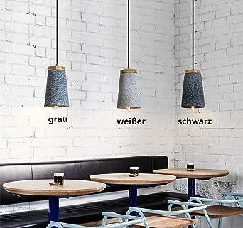 LED Pendelleuchte esstisch Vintage Hängelampe Beton und holz ...
