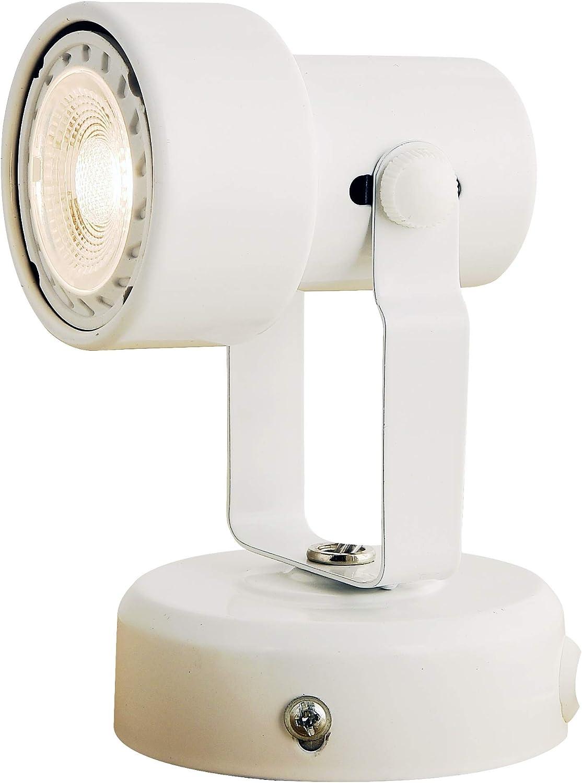 KING SHA Multi Purpose Spotlight Desk Wall Mount Accent Lamp with Plug in Cord White Finish