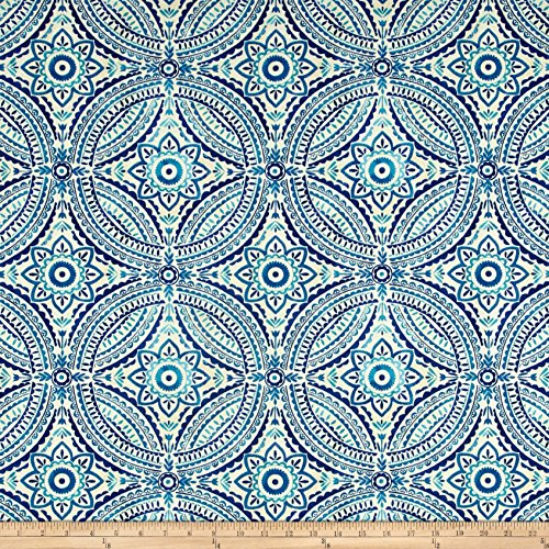 Kelly Ripa Home Indoor Outdoor Blissfulness Indigo Fabric By The Yard