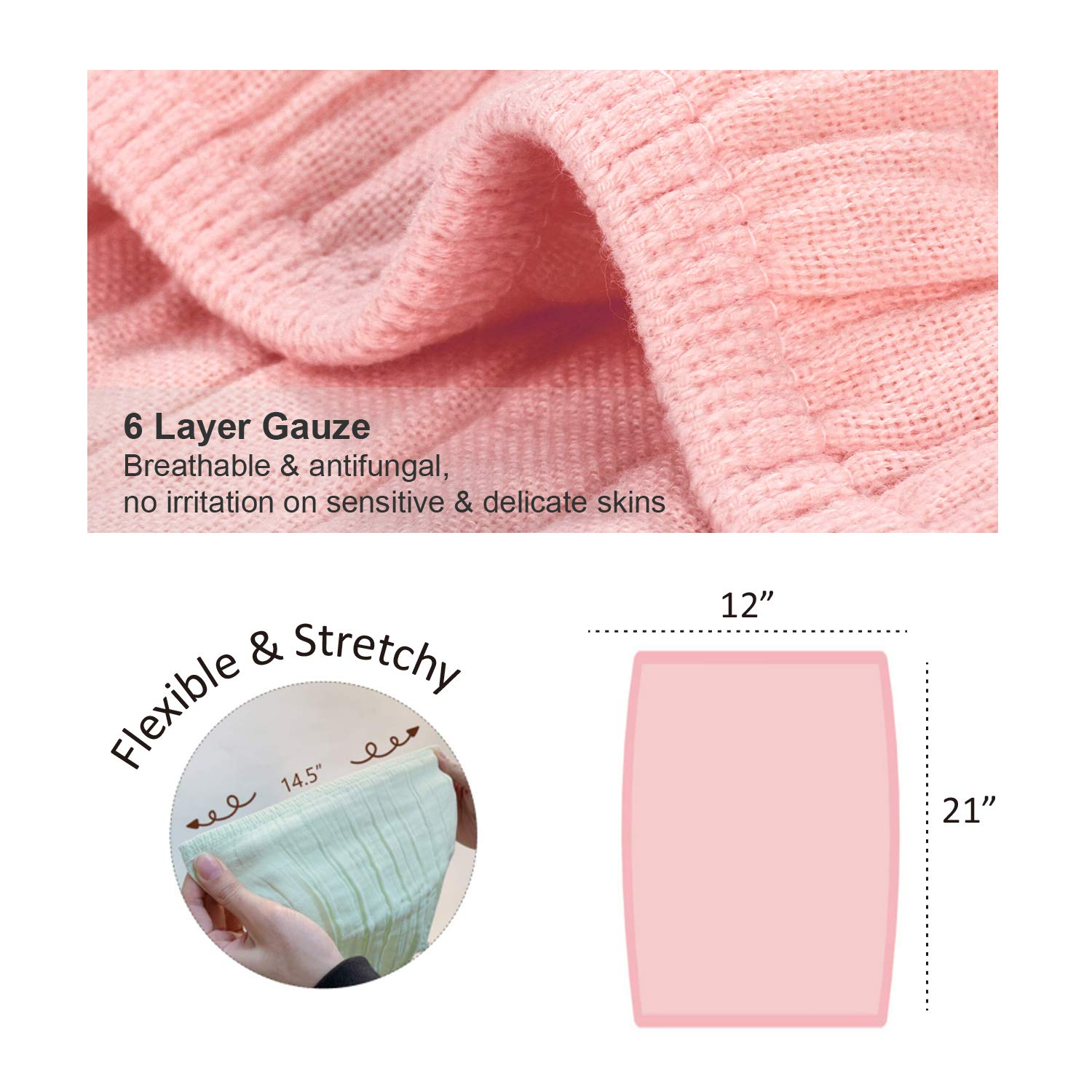 Soft Absorbent Kids Washcloths 21x12 Baby Shower Gift Reusable Burp Washrags for Newborns Toddlers Boy Girl Spit-up Cleaning Cloths Burp Cloths Baby Muslin Cotton Burping Towels 4 Pack
