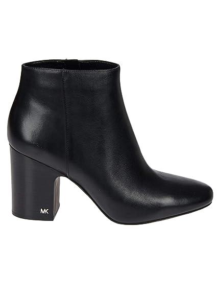Michael By Michael Kors Mujer 40T8elhe5l001 Negro Cuero Botines: Amazon.es: Zapatos y complementos