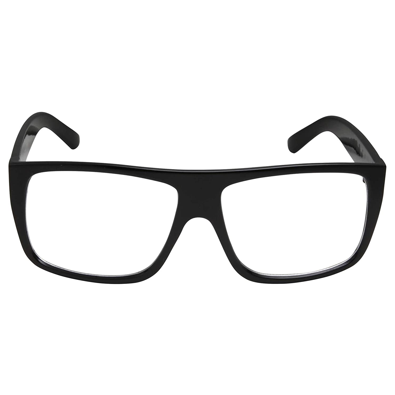 1058ab121c Amazon.com  grinderPUNCH Black Square Non-Prescription Clear Lens Glasses  Flat Top Mob Style  Clothing