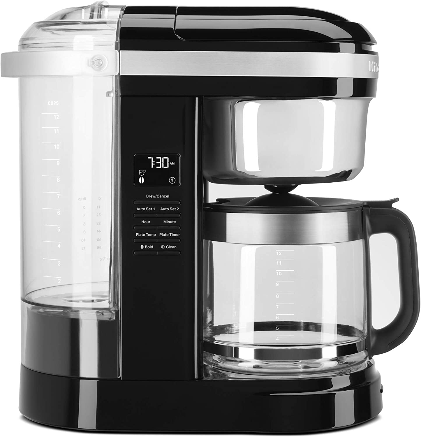 KitchenAid KCM1209OB Drip Coffee Maker, 12 Cup, Onyx Black