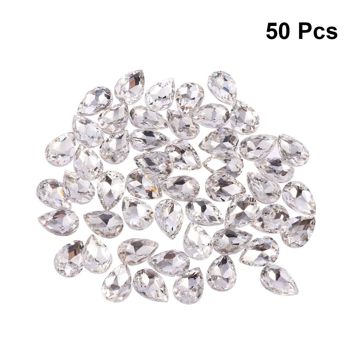 Artibetter Perlas de Cristal facetadas con Forma de l/ágrima de 50 Piezas para Hacer Joyas