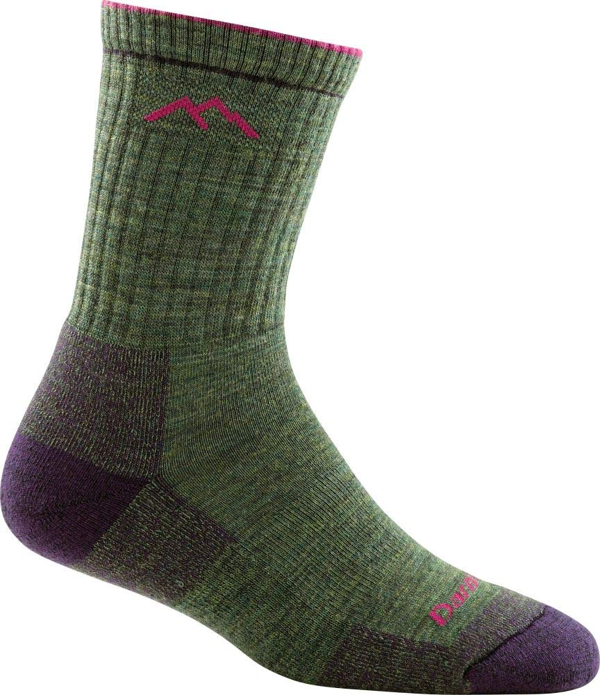 Darn Tough Vermont Women's Merino Wool Micro Crew Cushion Socks, Moss Heather, Small by Darn Tough