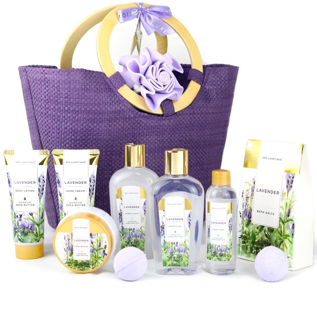 Spa Luxetique Spa Gift Set 10pcs Lavender Bath Set Luxury Bath Gift Set With Shower Gel