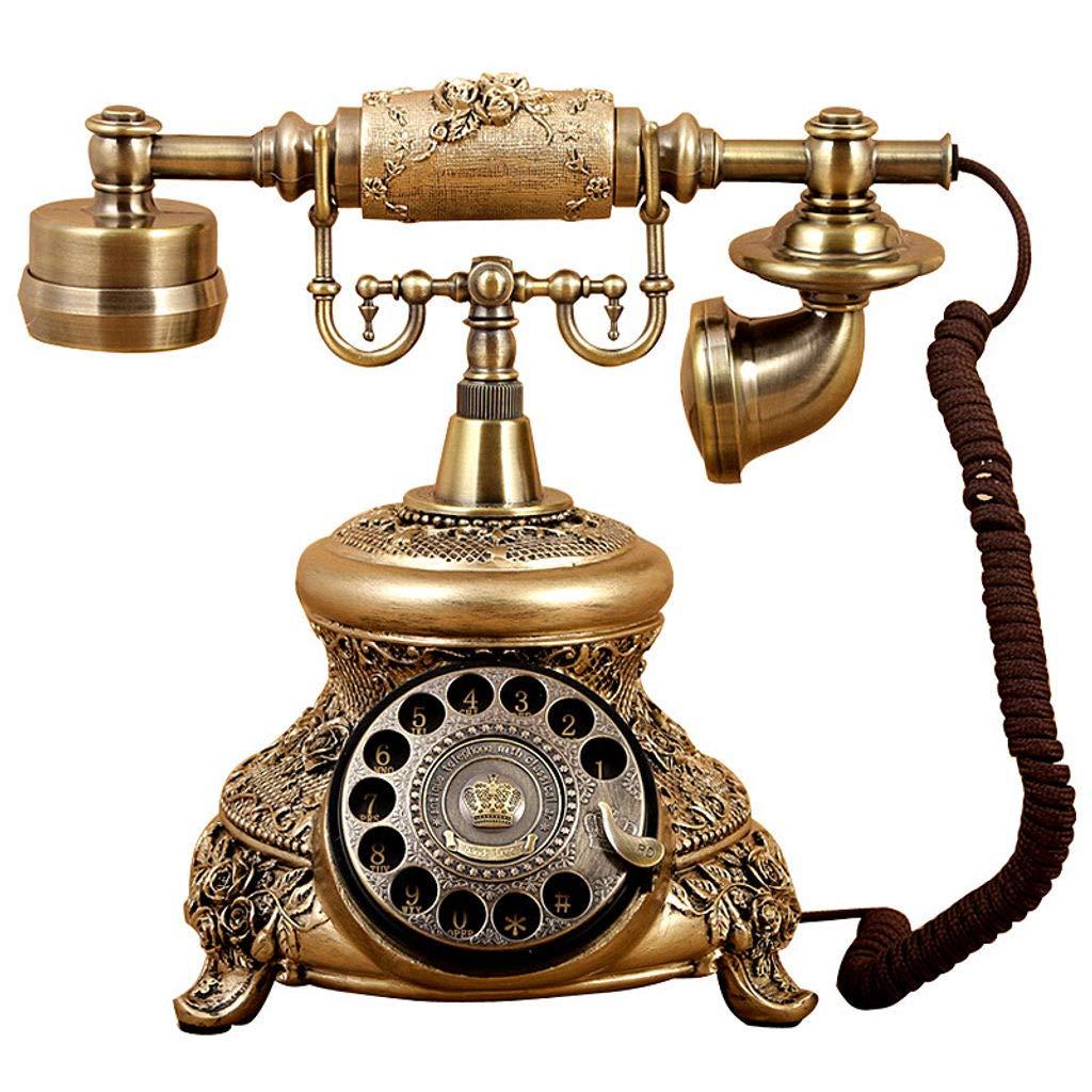 Bove Antique Telephone, Corded Digital Vintage Telephone Classic European Retro Landline Telephone Decorative-B by Bove