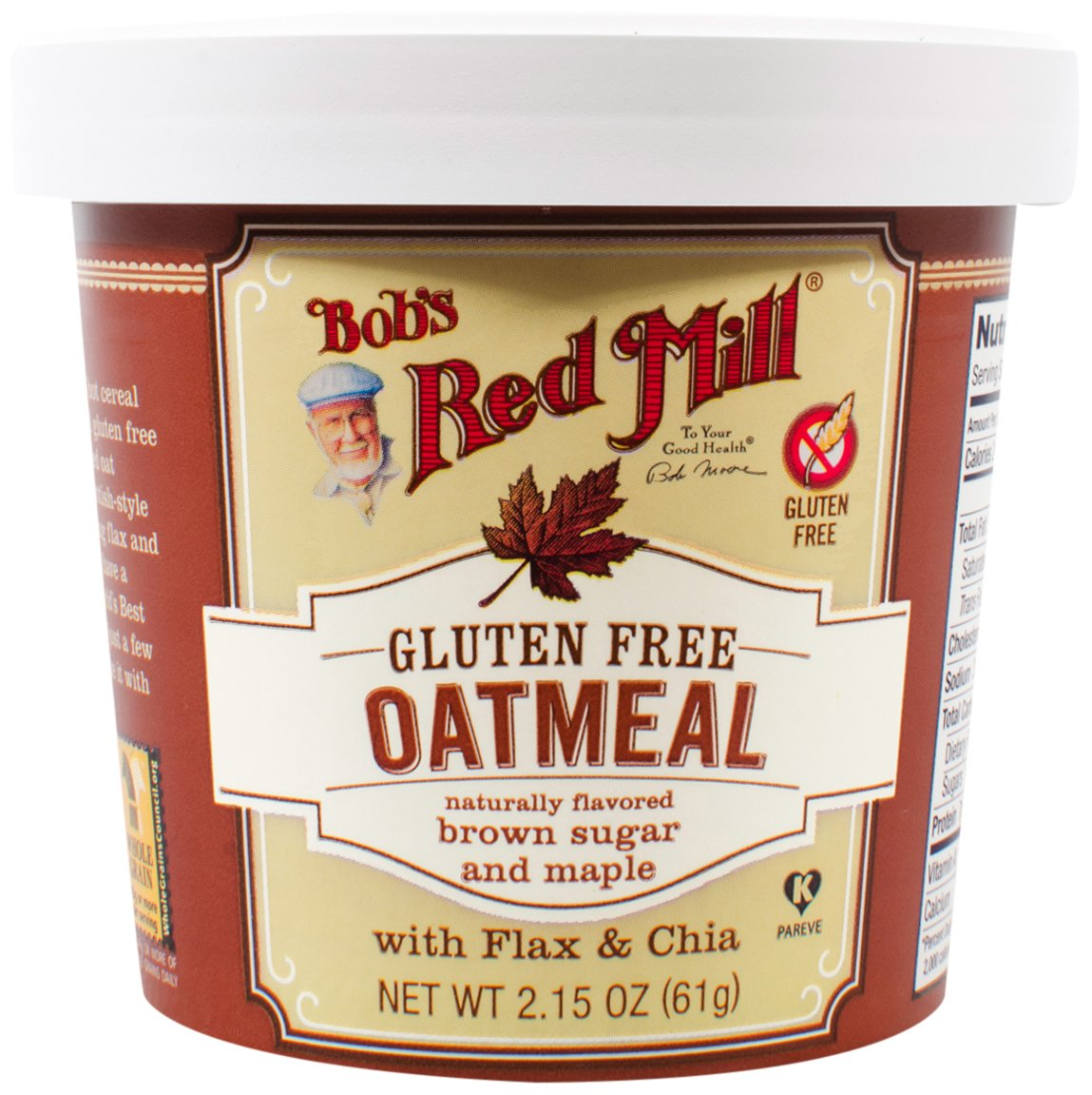 Bob's Red Mill Gluten Free Oatmeal Cup, Maple Brown Sugar, 8 Count