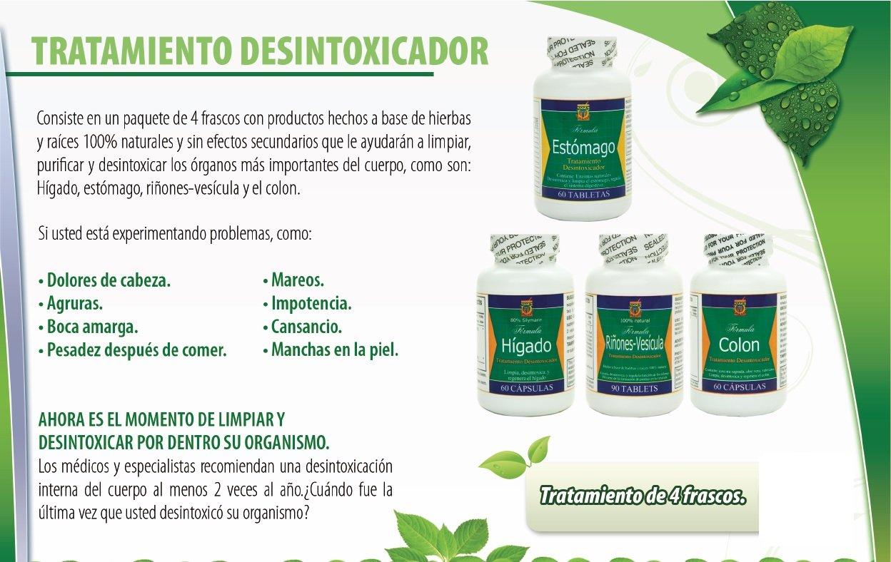 Amazon.com: Desintoxicador 4 Productos Para Limpiar Y Desintoxicar Colon, Rinones, Vesicula, Higado Y Estomago Como Lo Vio En Tv.: Health & Personal Care