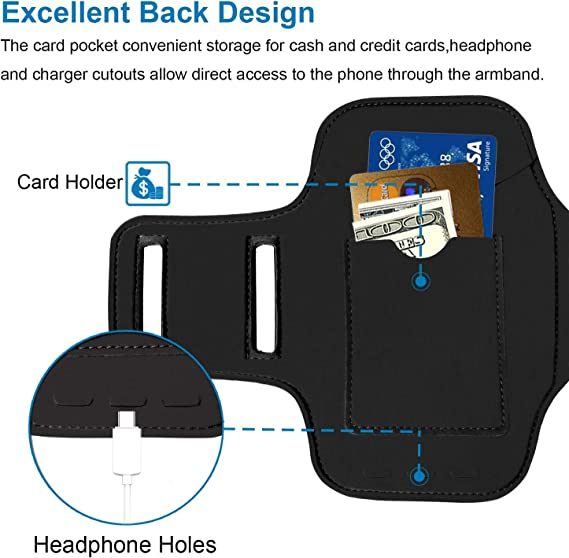 BUMOVE Gym Running Workouts Sports Arm Band for Google Pixel 4//3a//3//2//1 with Key Holder Black Pixel 4//Pixel 3a//Pixel 3//Pixel 2//Pixel Armband