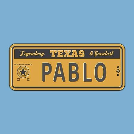 Megadecor Placa de Matrícula Decorativa de Aluminio o PVC Impreso de Estilo Vintage Americano Personalizado con Nombre 100% Personalizable 8 Modelos (Texas, PVC 5 mm): Amazon.es: Hogar