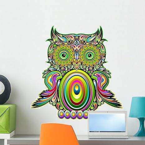 Amazon.com: Wallmonkeys Owl Psychedelic Pop Art Wall Decal Peel and ...