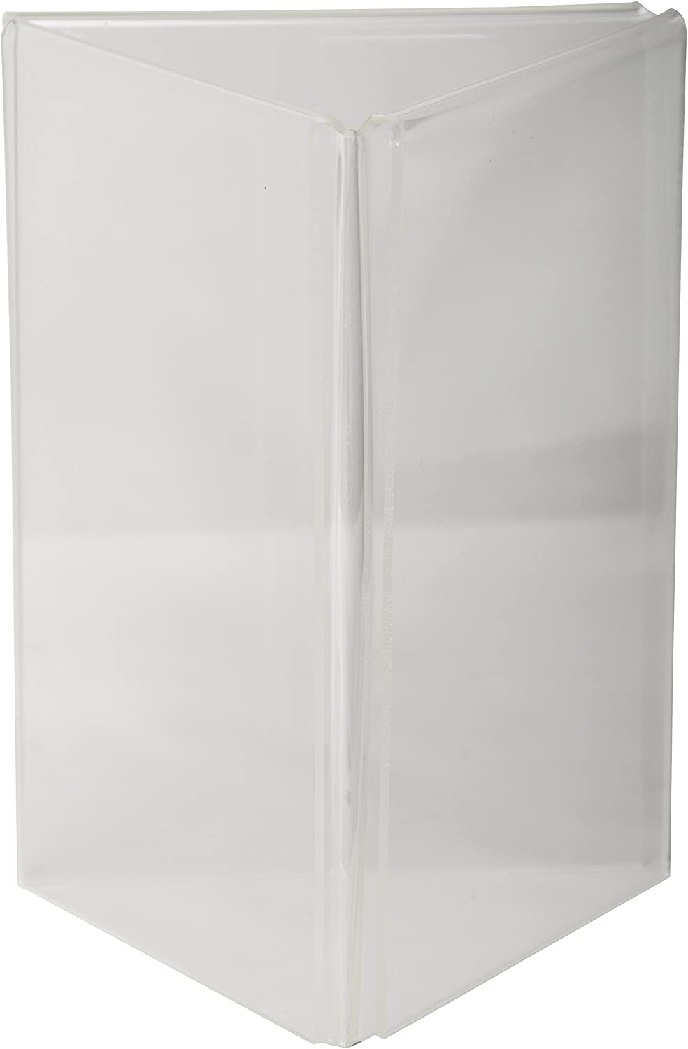 Acrylic 3-Sided Table Tent Menu Holder 4x6 Clear-Ad LHE-46 Pack of 4