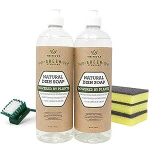 TriNova Natural Dish Soap Organic Formula