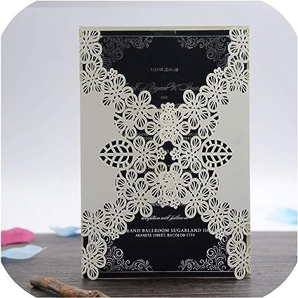 Amazon Com Luxrious Flower Wedding Invitation Card 50pcs