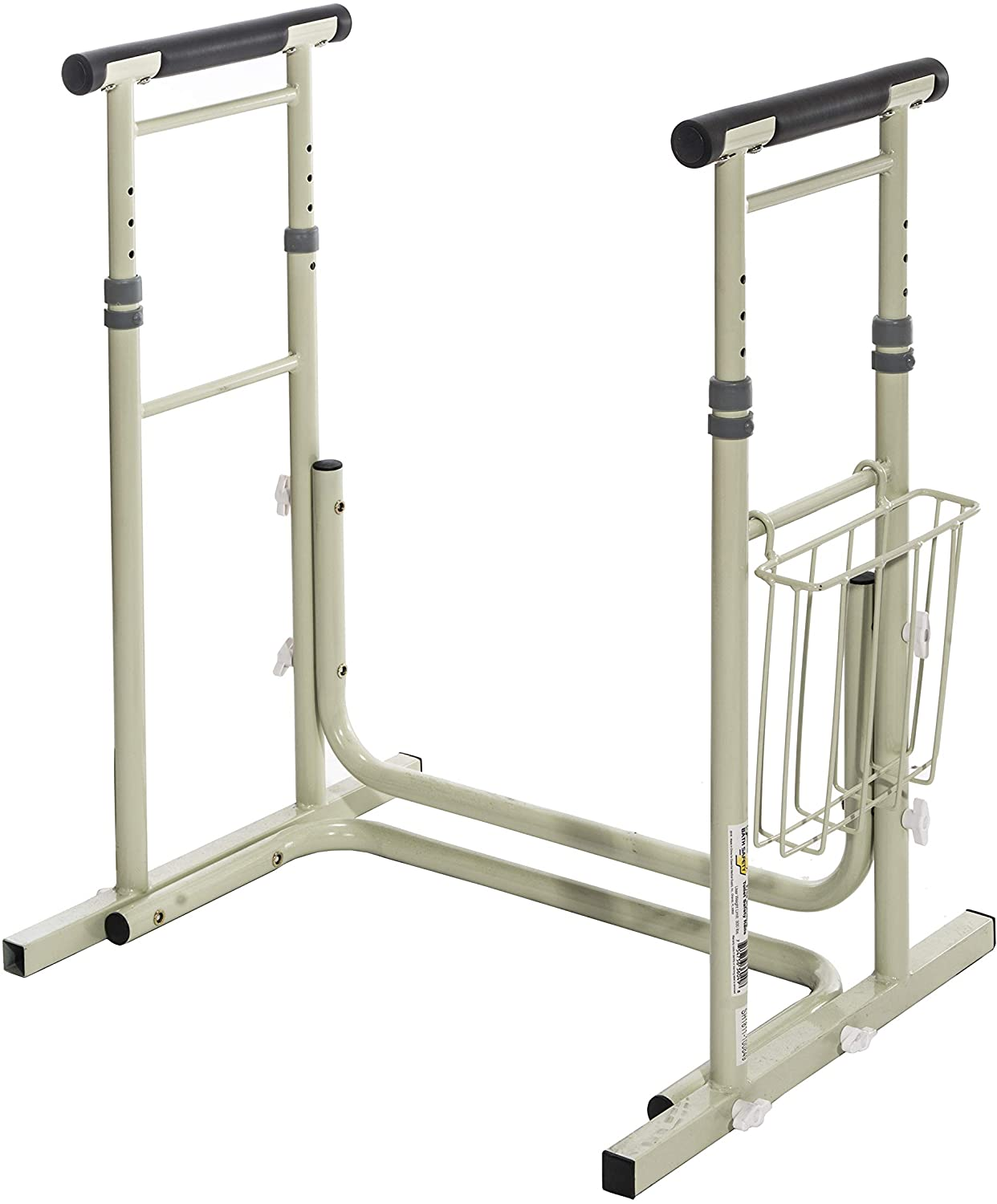 Essential Medical Supply Height Adjustable Standing Toilet Safety Rail with Foam Handles, 1count