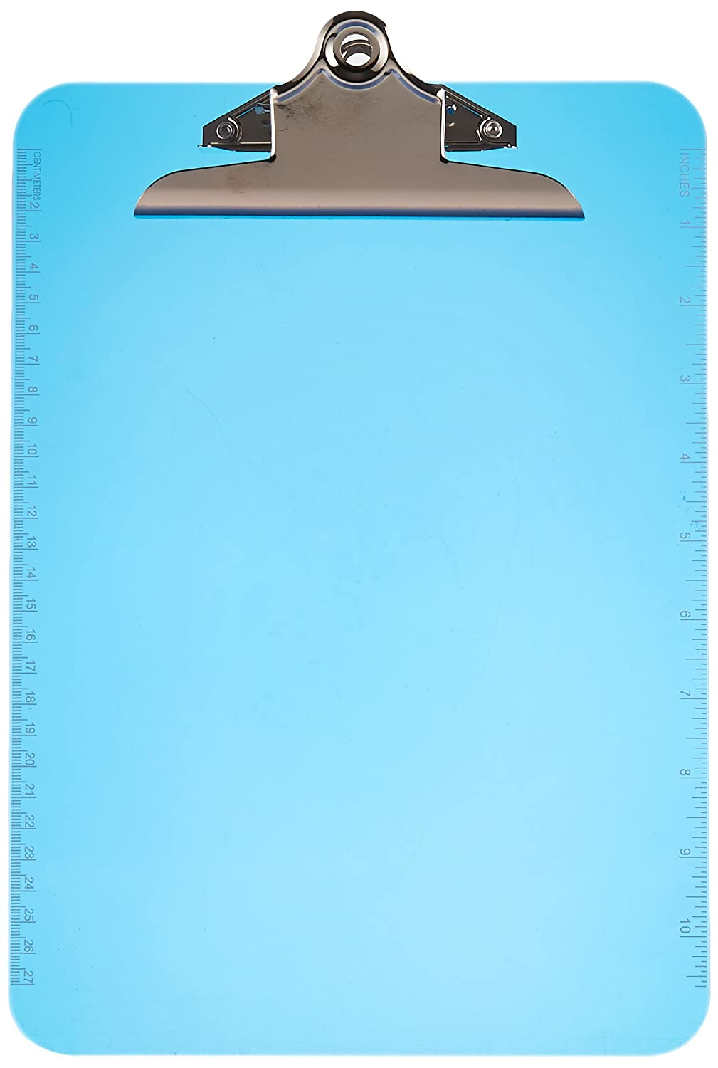Sparco Transparent Plastic Clipboard, 9 x 12-1/2 Inches, Blue (SPR01863)
