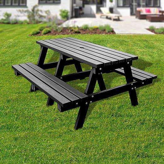 Plástico reciclado banco de mesa de picnic: Amazon.es: Jardín