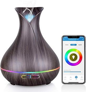 Difusor de aceites esenciales WiFi, difusor de aromaterapia ...