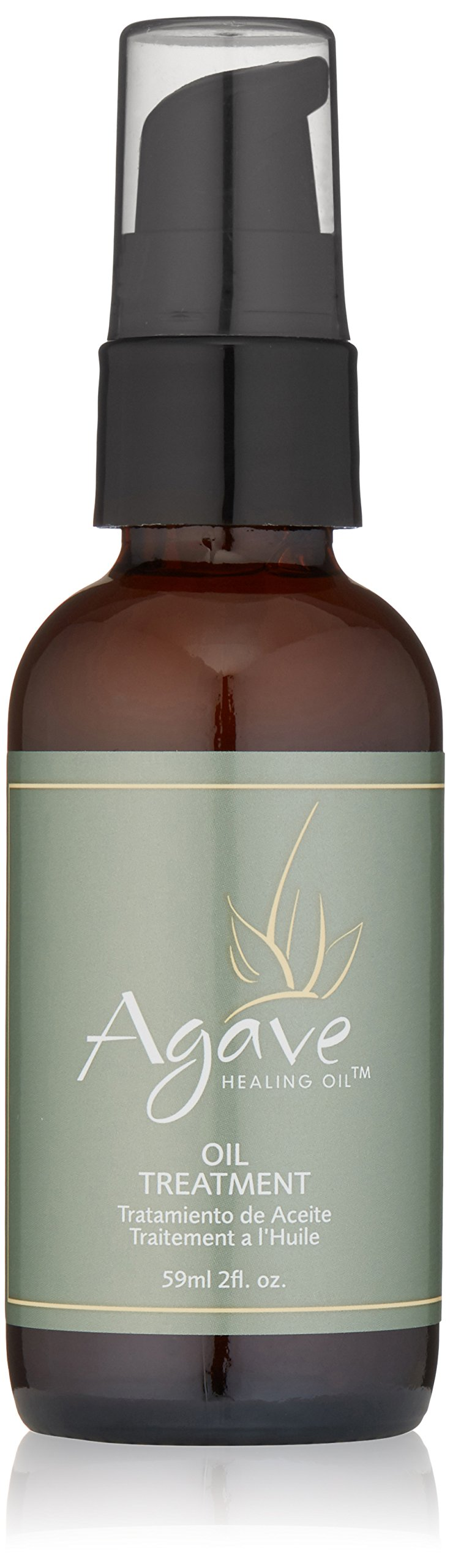 Agave Healing Oil - Oil Treatment. Hydrating Lightweight Hair Oil that Smooths, Moisturizes and Adds Shine to All Hair Types. Sulfate Free, Paraben Free, Phthalate Free and Cruelty Free (2 fl.oz)