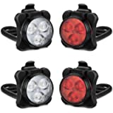 Akale Rechargeable Bike Light Set, LED Bicycle Lights Front and Rear, 4 Light Mode Options, 650mah Lithium Battery, Bike…
