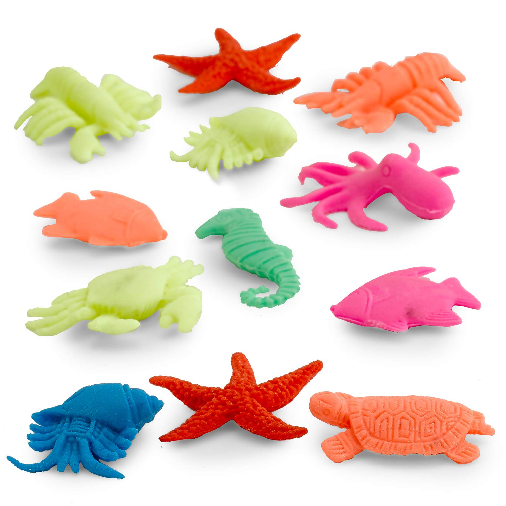 Kidsco Growing Animals Sea Life - Pack of 12 Creatures Figures, 1.25'' to 2'', Assorted Colored Animals - Grows Like Magic in Water - Fun Toy for Kids Boys and Girls, Party Favor, Gift, Prize by Kidsco (Image #6)