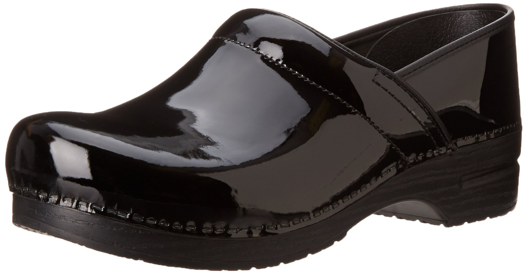 Dansko Men's Professional Patent Leather Men's Black Patent Leather Clog/Mule 45 (US Men's 11.5-12) Regular by Dansko
