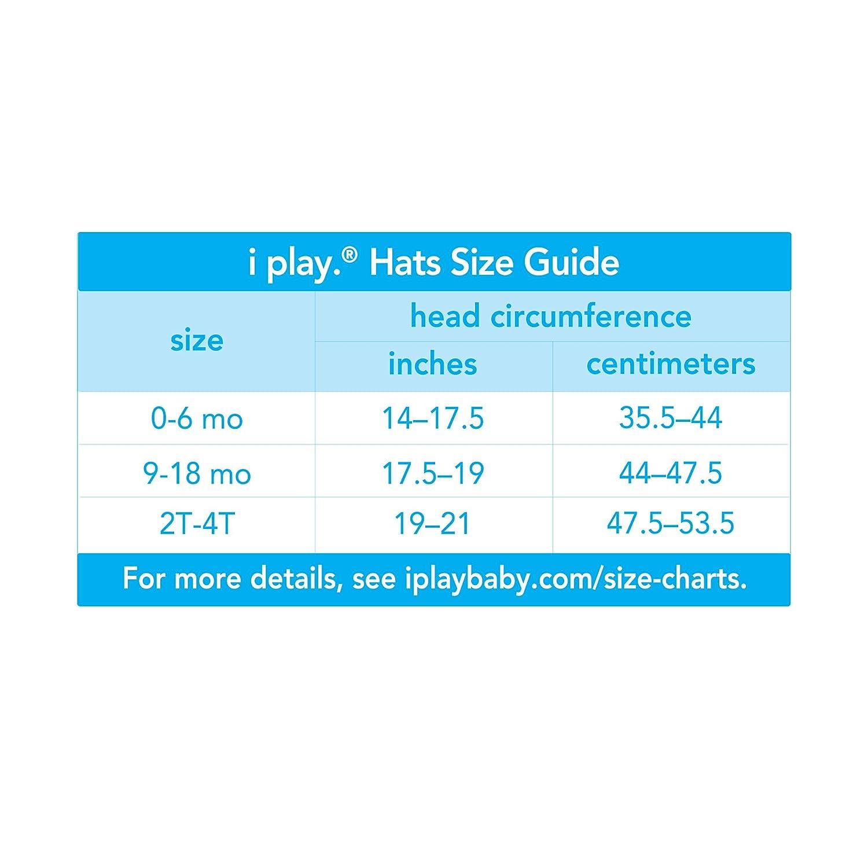 i play mehrfarbig 797150-656-51 Flap Hat Aqua Jungle 0-6m