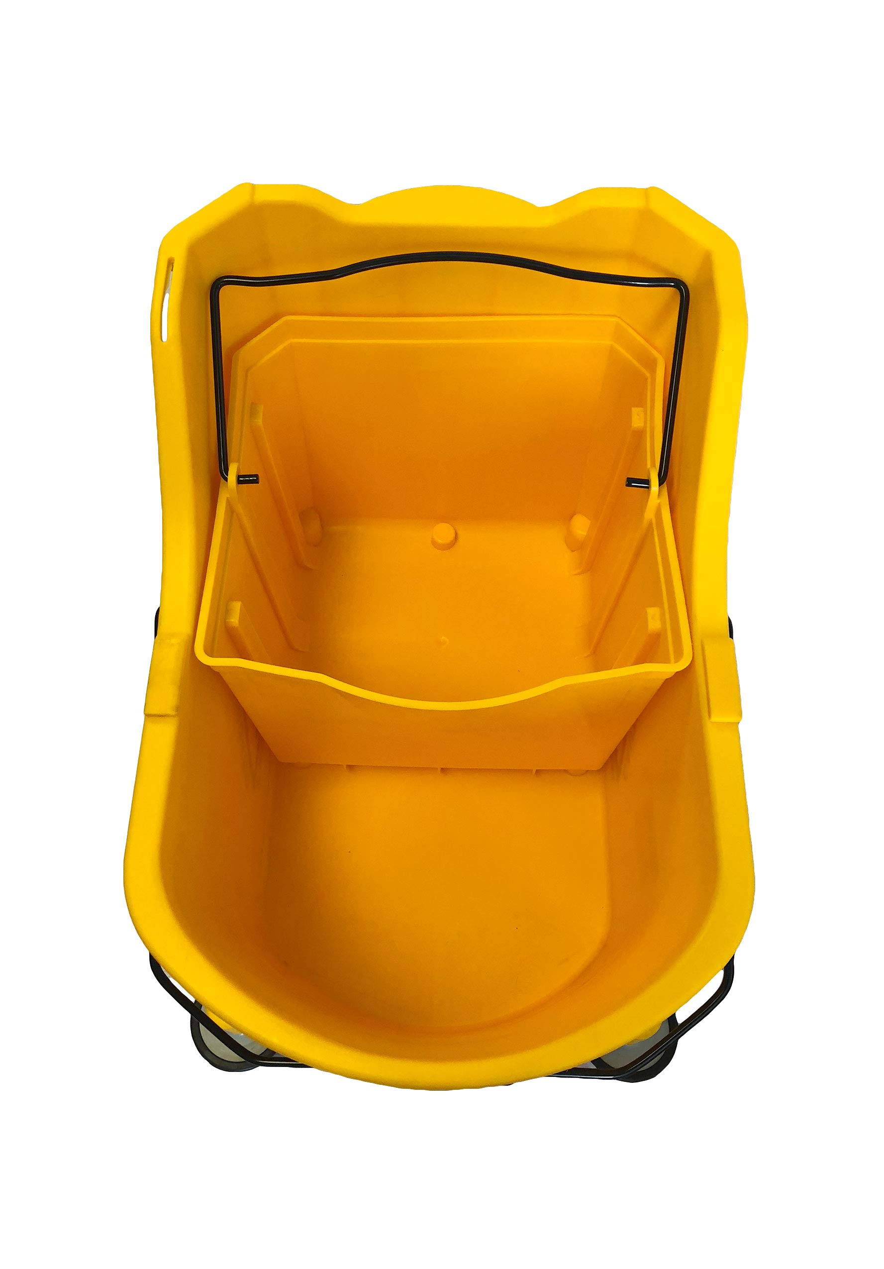 Hero EZ-LIFT Dual Cavity Commercial Mop Bucket with Wringer on Wheels, includes Dirty Water Bucket (36-Quart   9 Gallon Cleaning Bucket) by HERO IMPORTS (Image #3)