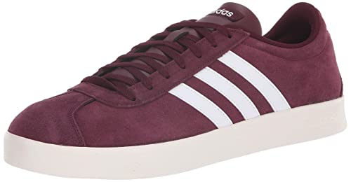 adidas Performance Men s VL Court 2.0 Sneaker, Maroon White Cloud White, ... c782a67009