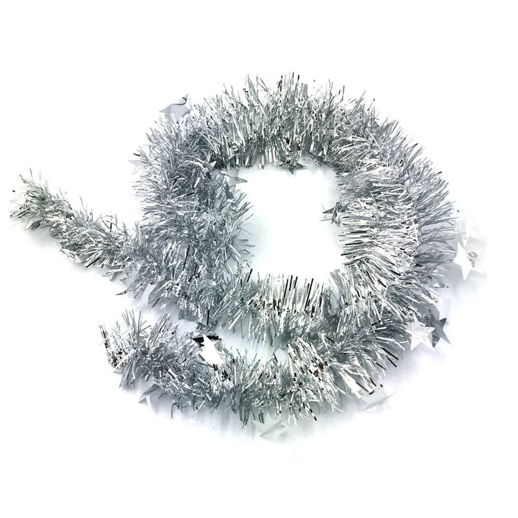 LUFA Ornamenti di Natale di 2m con la stella variopinta della guarnizione del nastro per l'albero di Natale Decorazione