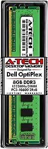A-Tech 8GB RAM Stick for Dell OptiPlex 9010, 7010, 3010, 990, 790, 390, DT/MT/SFF/USFF - DDR3 1333MHz PC3-10600 Non-ECC DIMM Memory Module