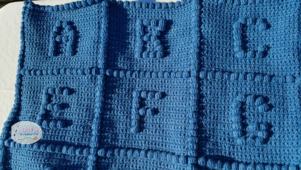Hand Crafted Crochet ABC Blanket (Full Alphabet) by Stitches By Mama Rose