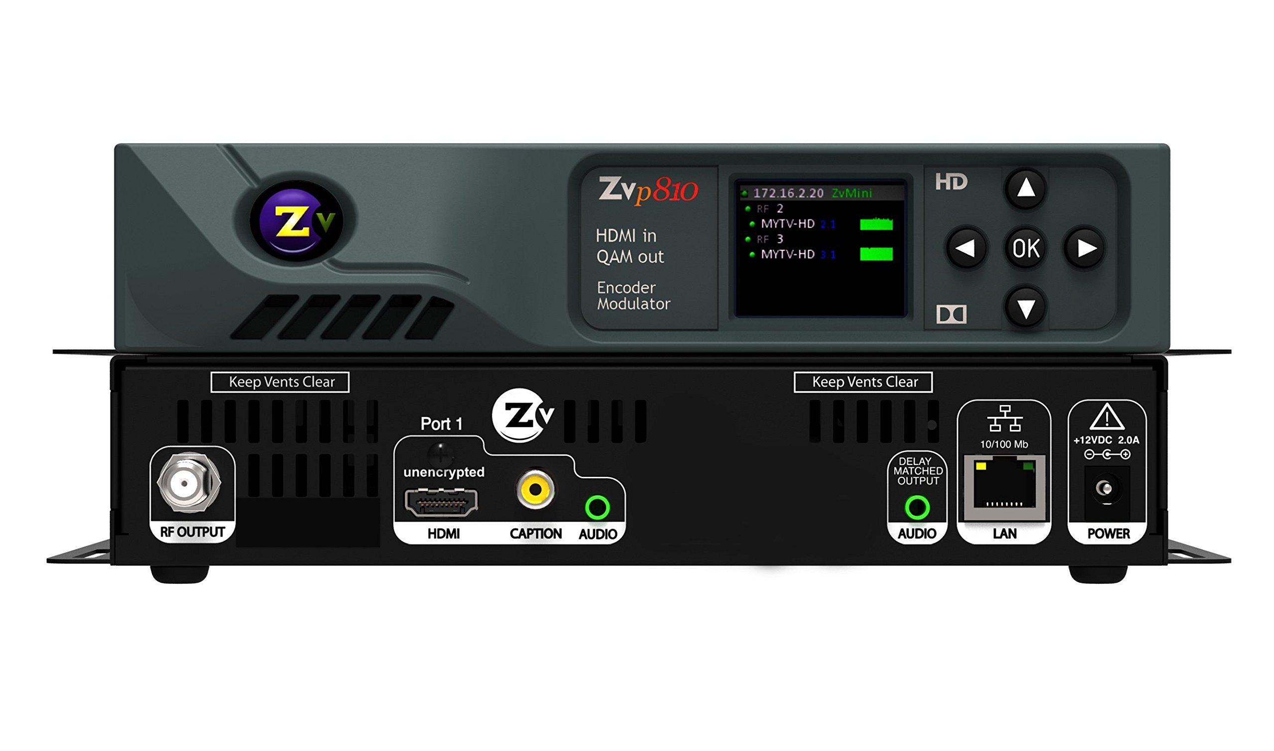ZeeVee ZvPro810 HD Video Distribution QAM Modulator Over COAX 1080p