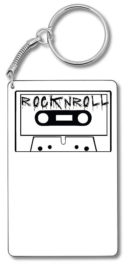 Cassette, RocknRoll Artwork Llavero Llavero: Amazon.es ...
