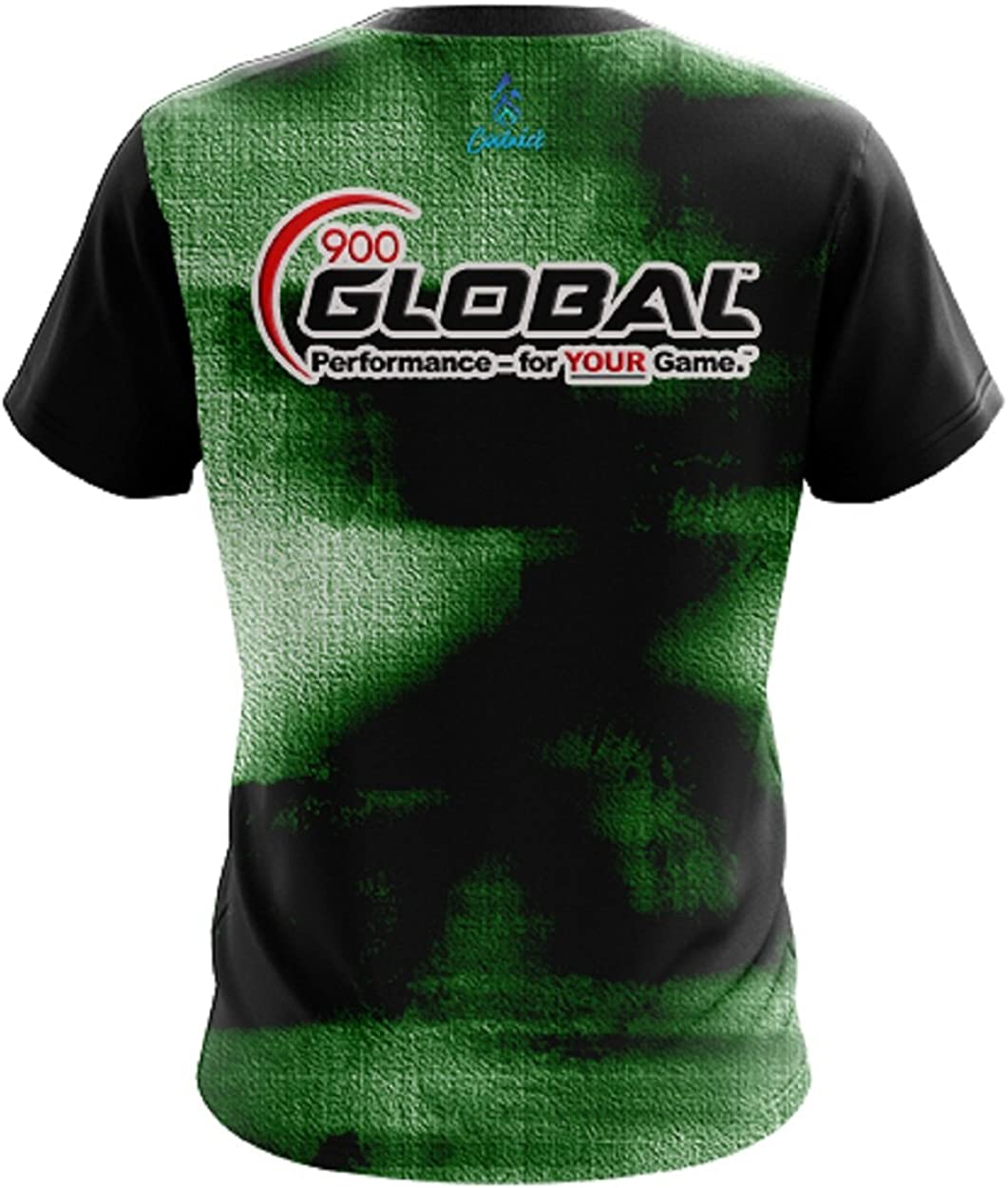CoolWick 900 Global Mens Canvas Green Bowling Jersey