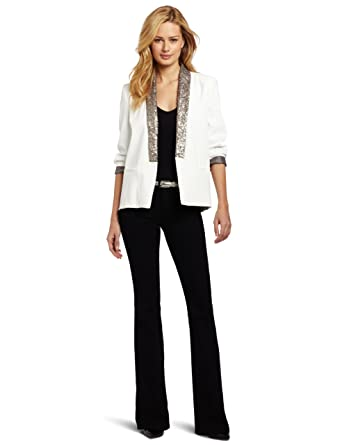 9641a3d189f1 Helene Berman Women's Tuxedo-Front Sequin-Trim Blazer at Amazon Women's  Clothing store: Blazers And Sports Jackets