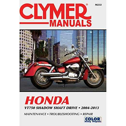 amazon com clymer honda vt750 shadow shaft drive 2004 2013 rh amazon com Honda VT750CD2 2002 honda vt750dc owners manual