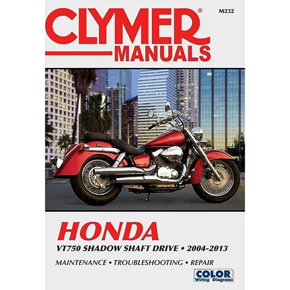 amazon com clymer honda vt750 shadow shaft drive 2004 2013 rh amazon com honda vt750dc service manual pdf Honda Shadow Bagger