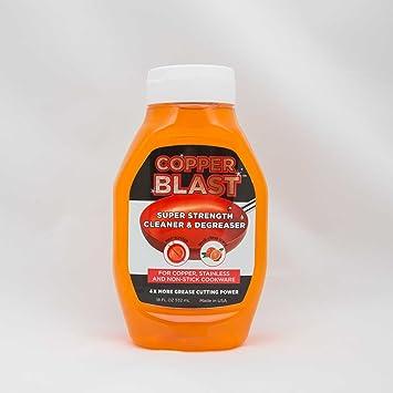 Cobre Blast Super fuerza limpiador y desengrasante para cobre, acero inoxidable y antiadherente utensilios de cocina (2 unidades)): Amazon.es: Hogar