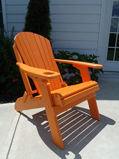 Stupendous Furniture Barn Usa Premium Folding Adirondack Chair W Cup Holder Poly Lumber Orange Download Free Architecture Designs Pushbritishbridgeorg