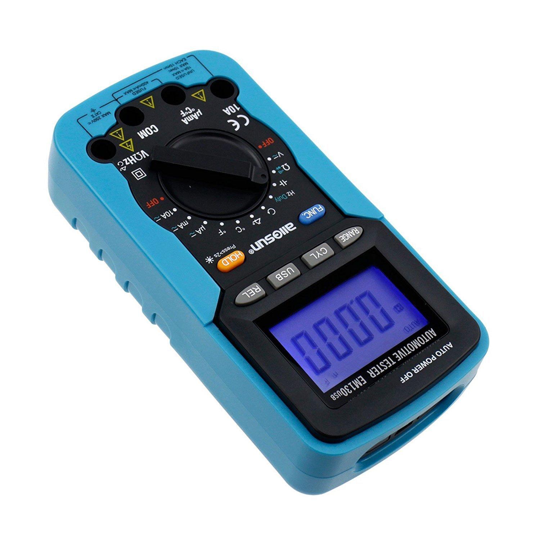 Dig dog bone USB digital multimeter car dedicated dwell angle/rotation number/voltage/current, resistance/capacitance/frequency/duty cycle EM130 by Dig dog bone (Image #4)